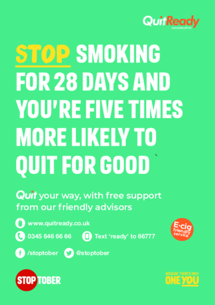 Stoptober QuitReady posters A4