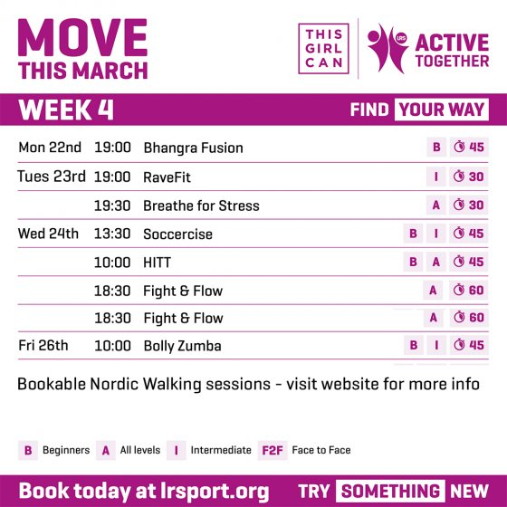 It's already week 4 of our 'Move This March' campaign - get the latest updates here